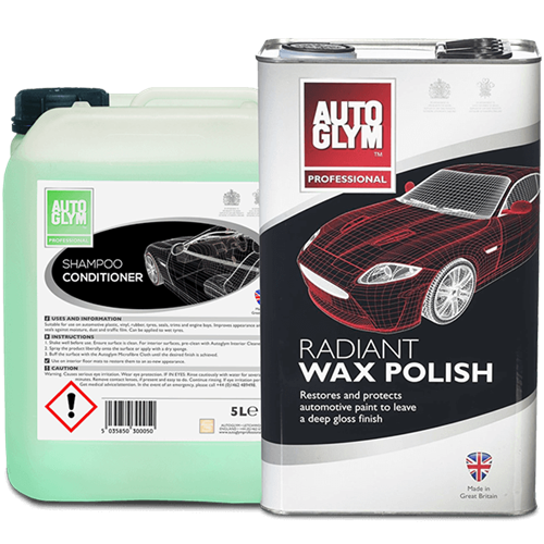 Picture of Wash & Wax combo deal (Radiant Wax & Shampoo Con 5ltr)